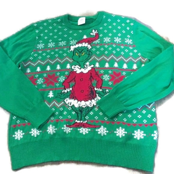 The Grinch Christmas Sweater.Grinch Ugly Christmas Sweater